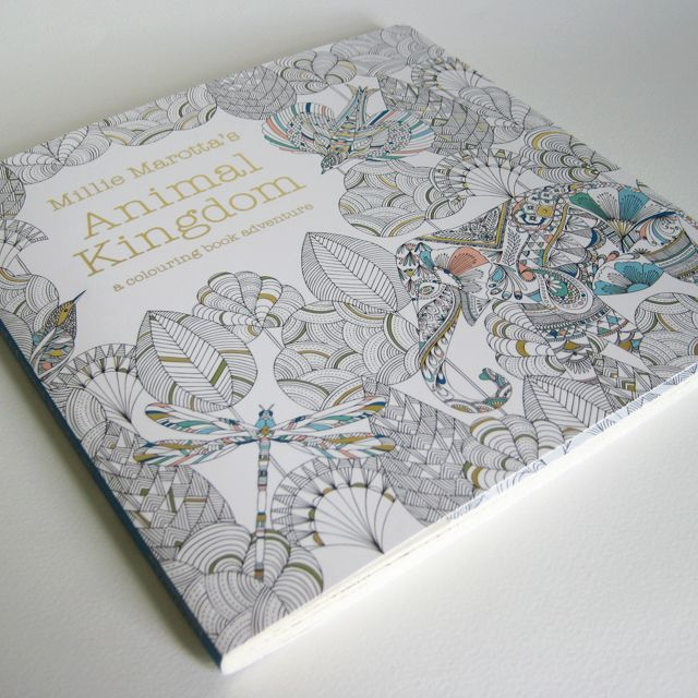Animal Kingdom Is A Colouring And Doodle Book For Grown Ups As Much It