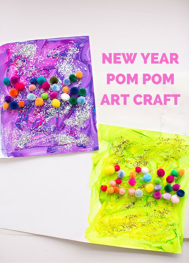 newest craft ideas pom pom new year craft for family 2552