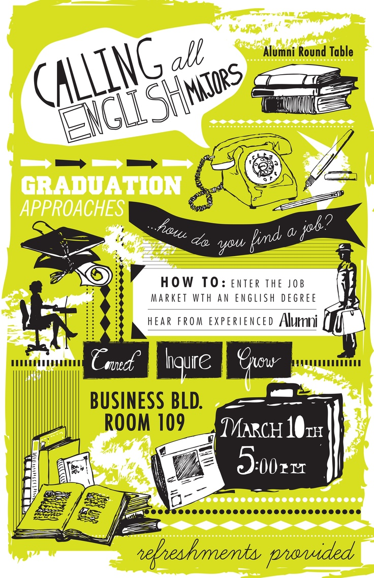 Poster design for college fest - Calling All English Majors Via Alethea Ruth Event Posters
