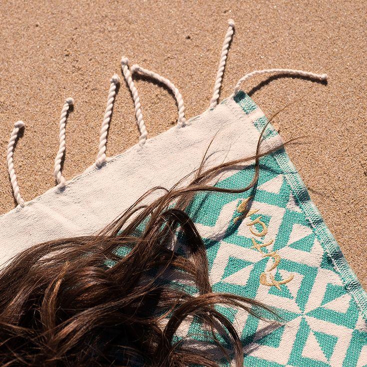 FUTAH BEACH TOWELS | MOLEDO EMERALD | beach towel | summer essentials
