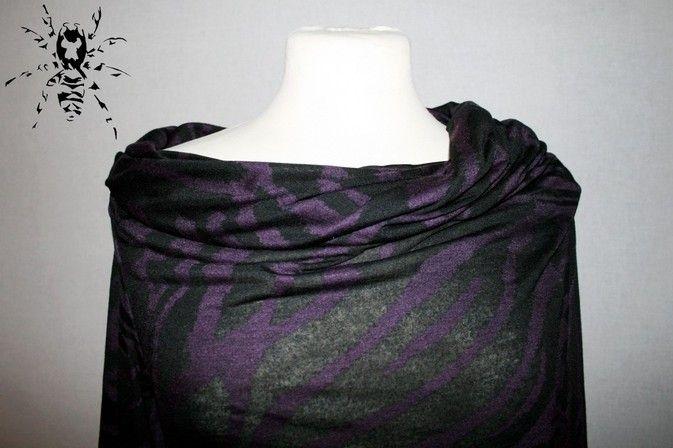 Kleid in schwarz-lila Zebra nach Burda Schnitt
