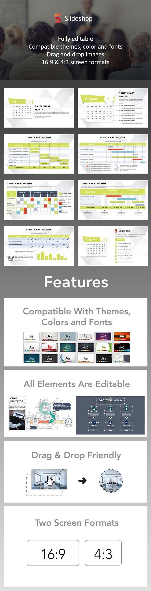 151 best powerpoint templates images on pinterest keynote gantt chart month powerpoint template nvjuhfo Gallery