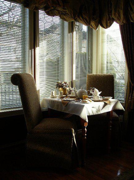 Table for 2.  Breakfast room at Beacon Inn at Sidney.
