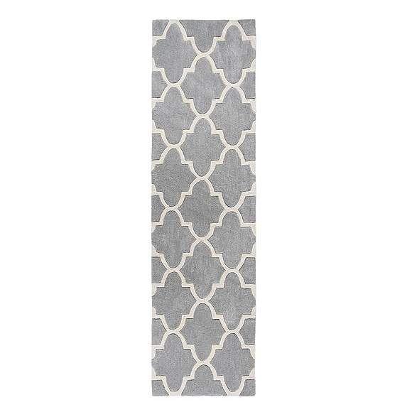 Grey Trellis Runner | Dunelm | Trellis pattern, Modern ...