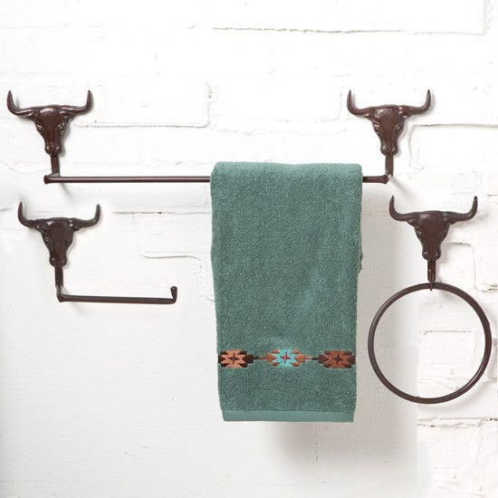 You Can Bring The Longhorn Style To Your Home With This Bathroom Hardware!  Choose From A Toilet Paper Bar, Towel Bar, Or Towel Ring In A Rustic Bronze  ... Good Ideas