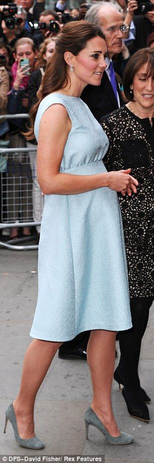 Kate's bump was more visible as she stepped out at the National Portrait Gallery this evening