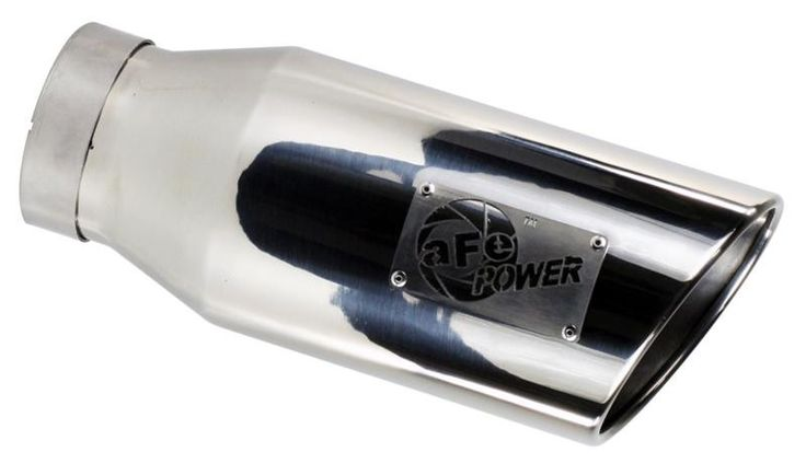 "aFe MACHForce XP Exhaust Tip SS-304 Mirror Polished 5"" x 7"" x 15"" L Direct Bolt-On"