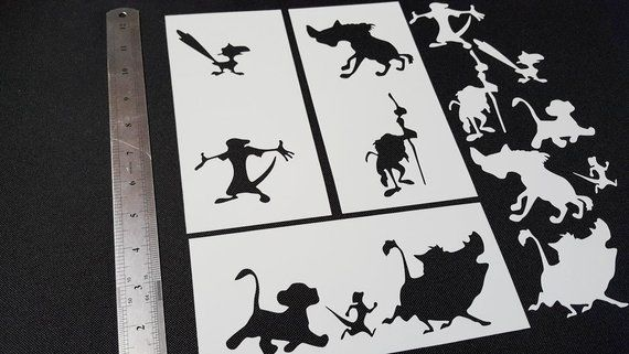 Here is our awesome The Lion King characters stencils