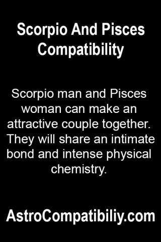 Scorpio man and Pisces woman....