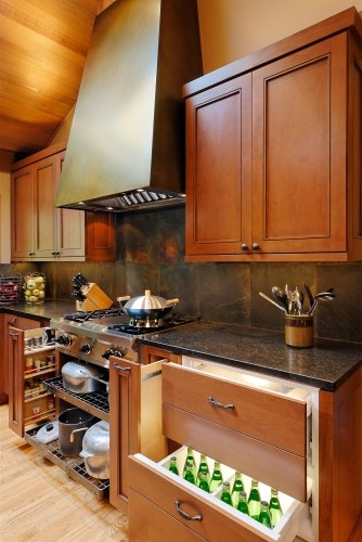 Very organized kitchen cabinets-asian kitchen by MLB Design Group