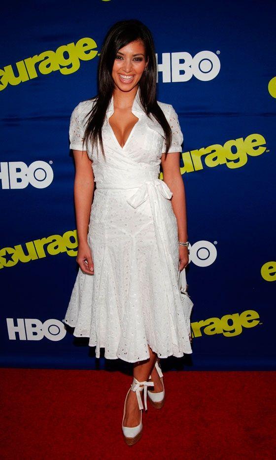 Kim Kardashian Looks Demure At The Entourage TV Series Premiere, June 2006