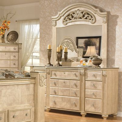 Signature Design by Ashley Saveaha 12 Drawer Dresser with Mirror & Reviews | Wayfair