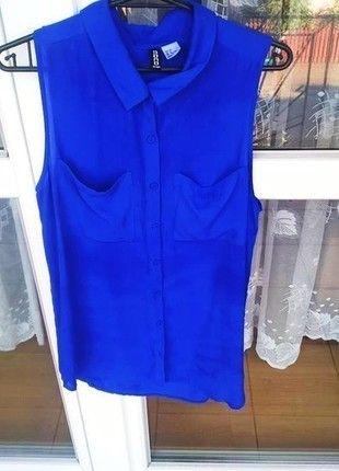 Kup mój przedmiot na #vintedpl http://www.vinted.pl/damska-odziez/koszule/14393843-hm-idealna-kobaltowa-koszula