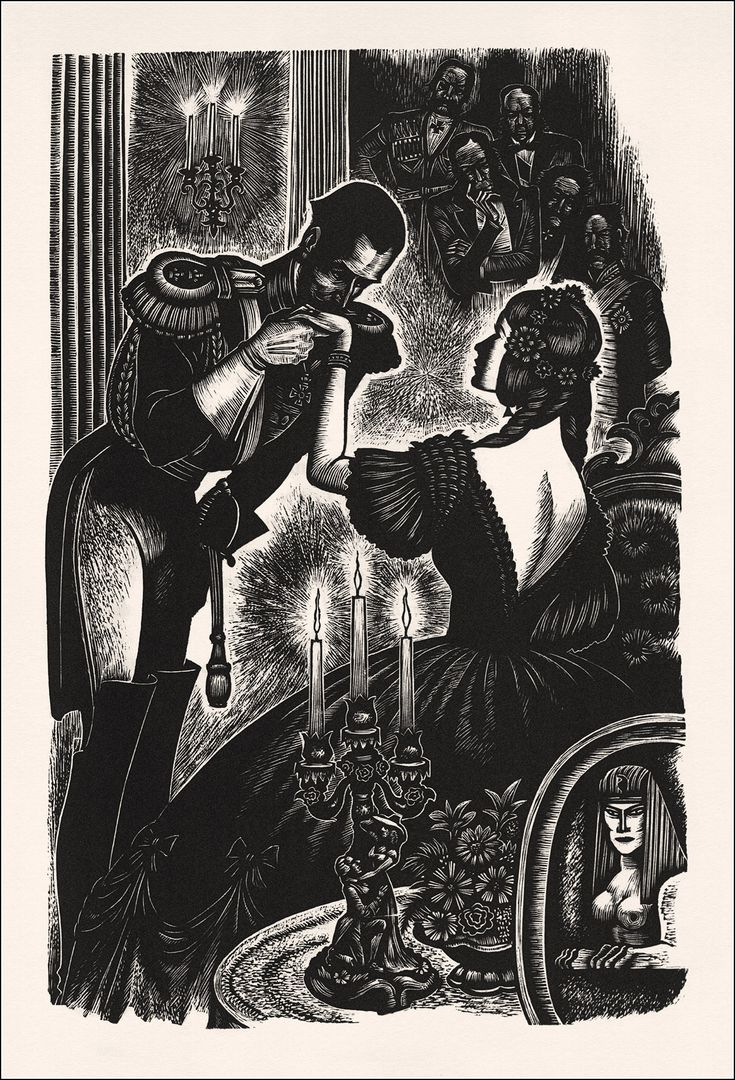 Illustration For Fathers And Sons (turgenev), 1941, Fritz Eichenberg