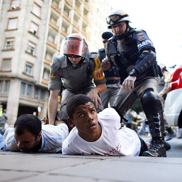 Police brutality in #Brazil, 2014. More in our annual report on amnesty.org #AIR15