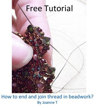 TUTORIAL:  How to end and join thread in beadwork?: Jewelry Tutorials, Crafts Ideas, Free Tutorials, Beads Tutorials, Jewelrylessonscom, Awesome Crafty, Beads Jewelry, Beads Work, Beads Techniques