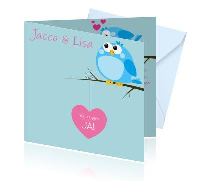 Trouwplannen? Ja ik wil trouwen! Bestel grappige cartoon trouwkaarten voor een onvergetelijke bruiloft.