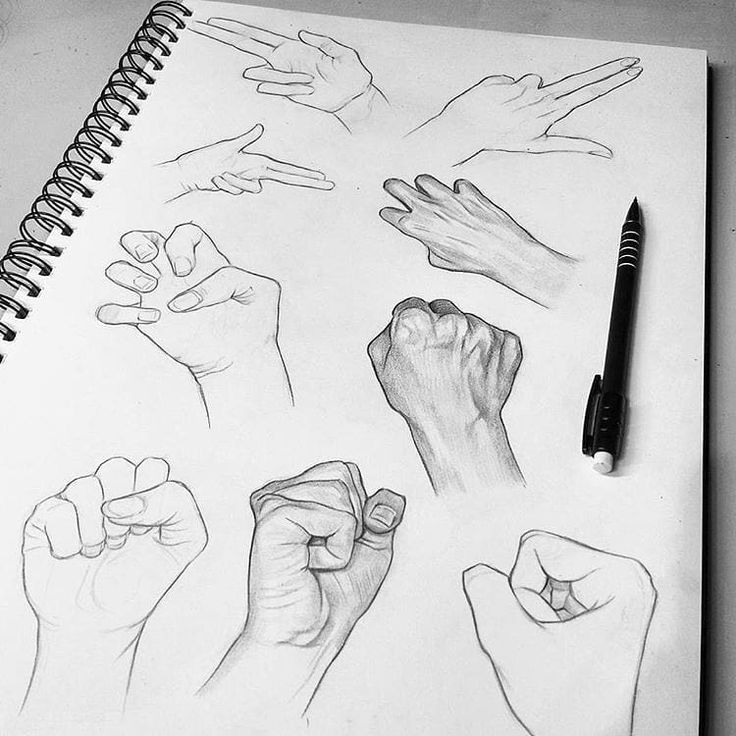 """7,836 Likes, 79 Comments - Hypnotizing Arts (@hypnotizing_arts) on Instagram: """" Hands study with a pencil   Which one do you like more?  • By artist @tomaszmroart • Do you…"""""""