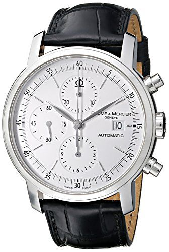 Baume & Mercier Men's MOA08591 Classima Executive Analog Display Swiss Automatic Black Watch | Best Chronograph Watches for men women