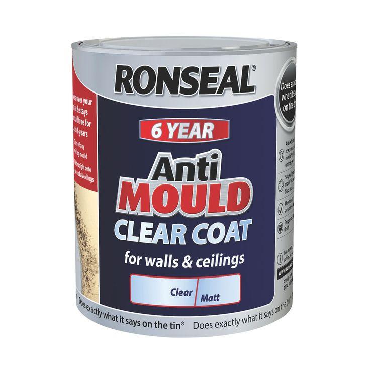 Ronseal 6 Year Matt Anti Mould Clear Coat 750ml   Departments   DIY at B&Q