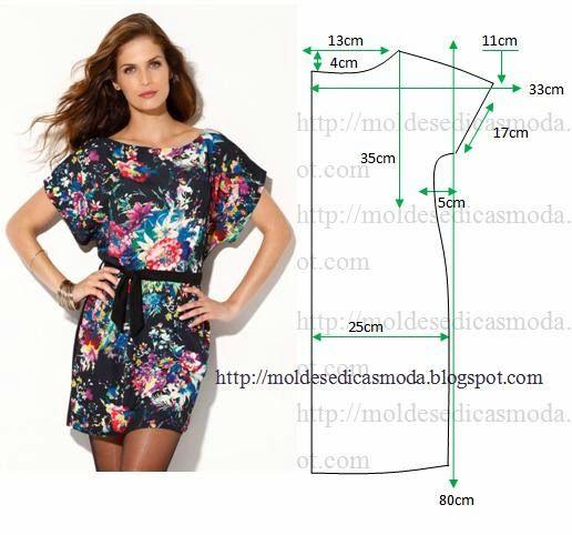 Moldes Moda por Medida: VESTIDO FÁCIL DE FAZER 35