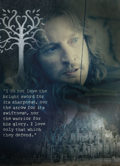 Faramir was such an awesome character in the Two Towers and the Return of the King. Wish they would've done his part accurately, he never tried to take the ring from Frodo, and was much kinder to the hobbits than was depicted in the movie.