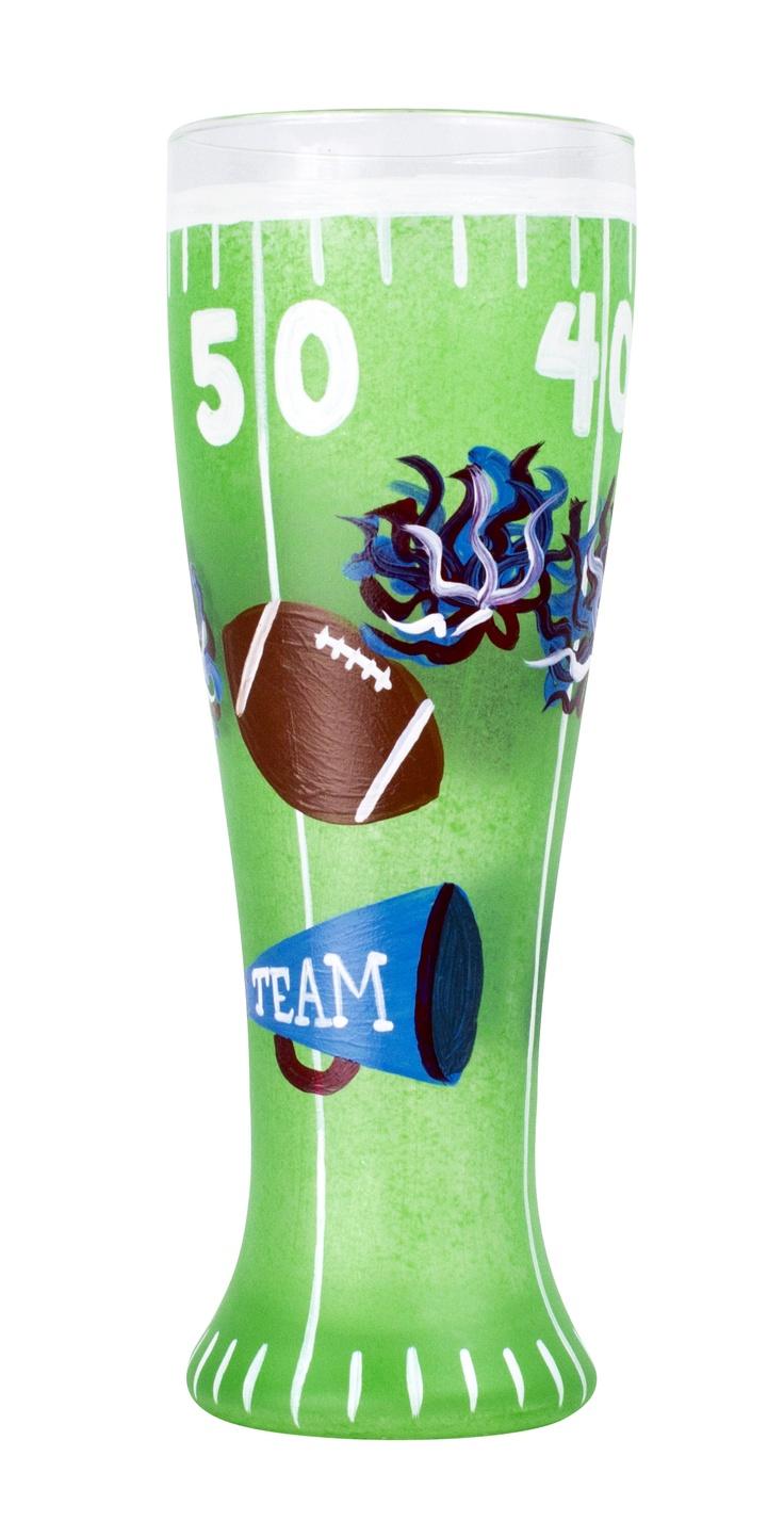 GOAL! Football Themed Pilsner- DecoArt Americana Gloss Enamels