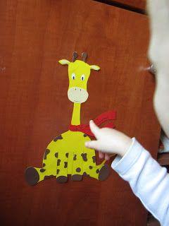 Süti és más...: Bölcsi köszöntő zsiráf