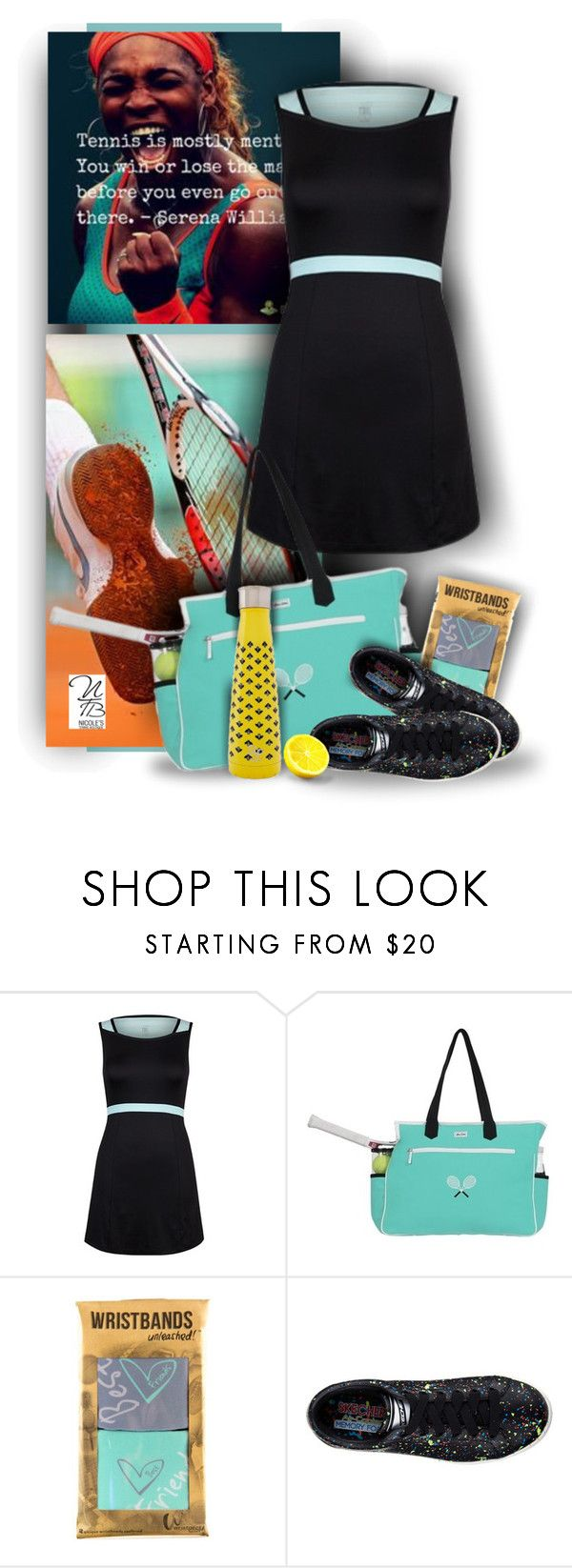 """""""Tail Ladies Tennis Styles -  Nicole's Tennis Boutique"""" by nicolestennisboutique ❤ liked on Polyvore featuring AME, Skechers and S'well"""