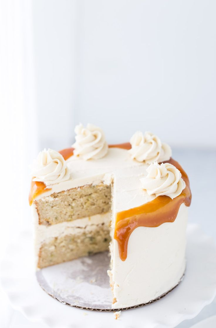This Spiced Pear Cake is moist from fresh juicy pears, nutty from browned butter and topped with a honey caramel frosting.