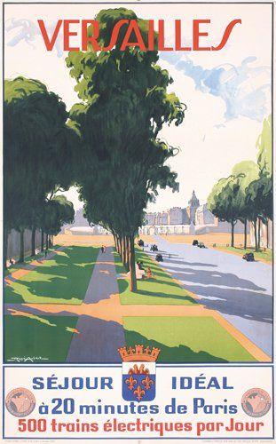 Versalles, 1930: Vintage Posters, France Travel, Picture-Black Posters, Paris Travel, Posters Noticed, Vintage French, French Travel, Vintage Travel Posters, Versailles France
