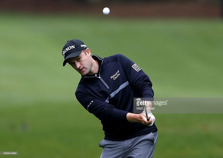 Russell Knox hits his third shot on the first hole during the first round of the RBC Heritage at Harbour Town Golf Links on April 16, 2015 in Hilton Head Island, South Carolina.