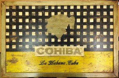 Cohiba Factory Sign, Distressed Wood - For Sale: $349.  #cigars, #cigar art, #cohiba