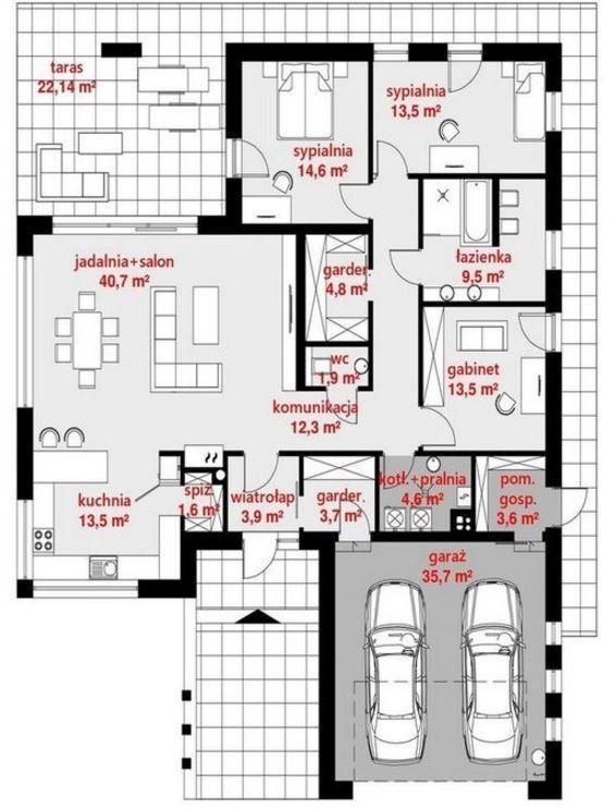 Planos De Casas Modernas De 1 Piso Y 3 Habitaciones Planos De Casas Planos De Casas Modernas Plano De Casa Moderna