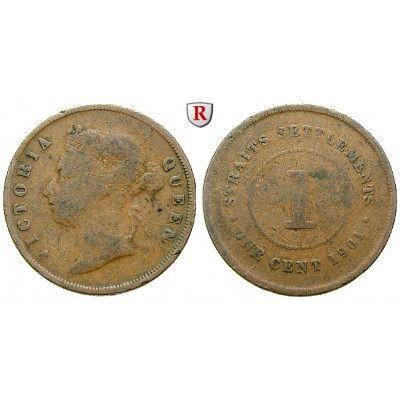 Straits Settlements, Victoria, Cent 1901, f.ss: Victoria 1837-1901. Bronze-Cent 1901. KM -; fast sehr schön 50,00€ #coins