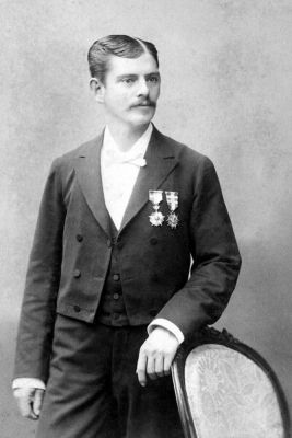 Jacinto Infantas. Capitán del Regimiento Cazadores del Desierto.