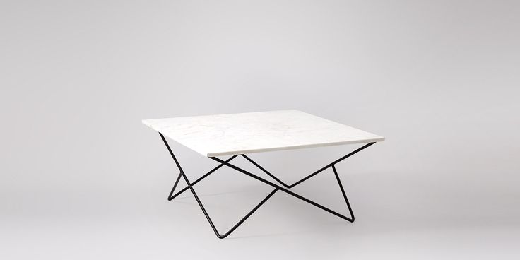 SWOON EDITIONS Katrina Coffee Table, White Marble & Black