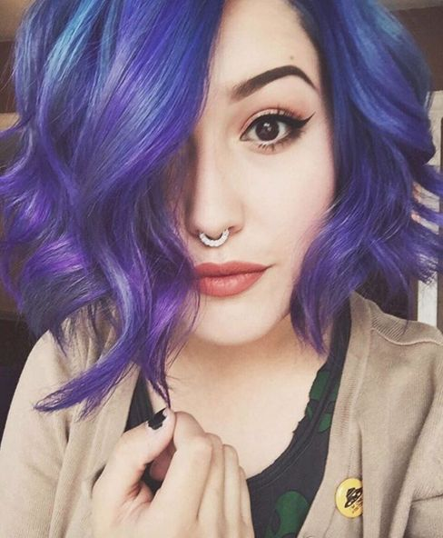 about Short Blue Hair on Pinterest Short dyed hair, Different hair ...