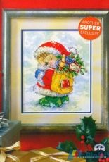 Country Companions Santa's Little Helper The World of Cross Stitching  Issue 91 Christmas 2004 Saved