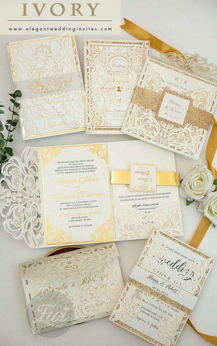 Ivory Wedding Invitations Invitations By Elegant Wedding Invites Elegantweddinginvites In 2020 Ivory Wedding Invitations Unique Wedding Invitations Elegant Wedding Invitations