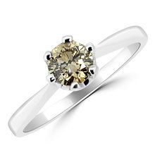 Champagne Brown Diamond Solitaire Engagement Ring