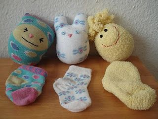 What to do with all those too small socks!