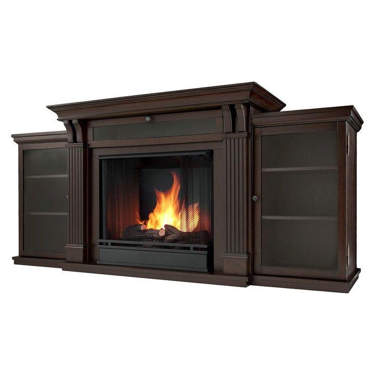 Real Flame - Calie Electric TV-Media Fireplace-Dark Walnut, Dark Walnut