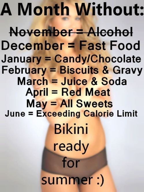 A month without... I should try this. I don't think I would do Biscuits and Gravy I would do somthing else...