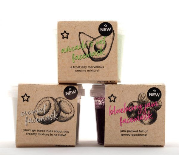 Okay, so these are pretty hilarious. I've got three of the six; Coconut, Blueberry Jam and Avocado and Oat. They literally smell like you should be spreadi
