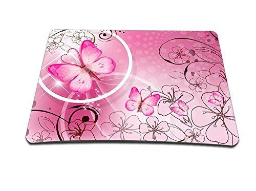 Cheap Universal Computer Gaming Anti-Slip Mouse Pad Mouse Mat Mice Pad mousepad for Laptop Computer Tablet PC (Pink Butterfly)(MP-120) deals week