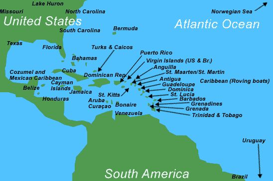 The Caribbean Also Called The West Indies Is A Group Of