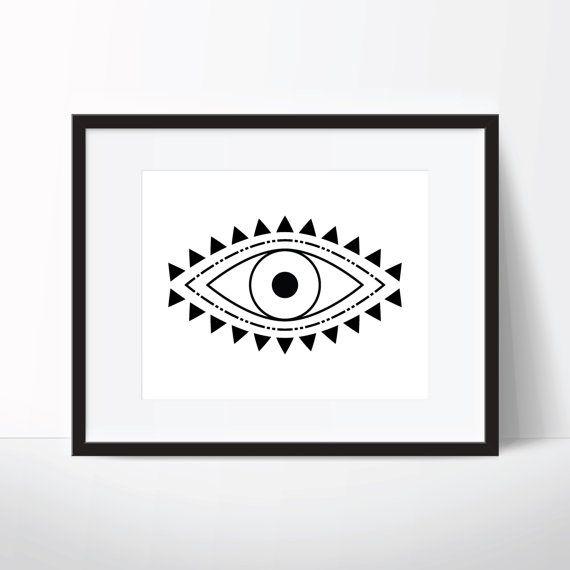 Evil Eye Print, Spiritual Print, Evil Eye Art, Spiritual Art, Boho Print, Boho Art, Digital Download, Printable Wall Art