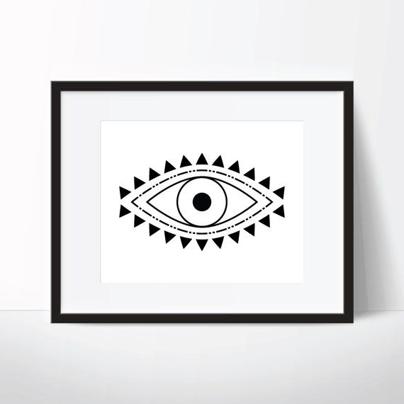 Evil Eye Print, Spiritual Print, Evil Eye Art, Spiritual Art, Boho Print, Boho Art, Digital Download, Printable Wall Art