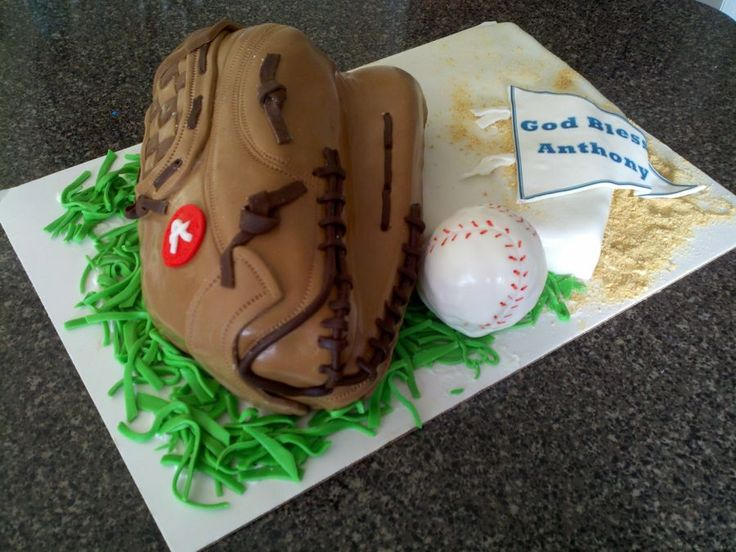 baseball glove cake — First Communion